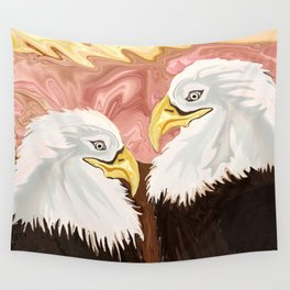 Freedom's Princess Bald Eagles Wall Tapestry