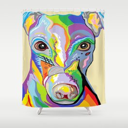 Greyhound Close Up Shower Curtain