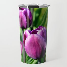 Purple Tulips Travel Mug