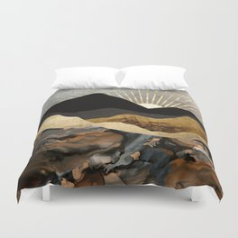 Copper and Gold Mountains Duvet Cover