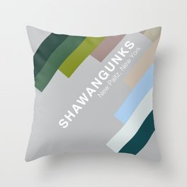 The colors of climbing spots - SHAWANGUNKS Throw Pillow
