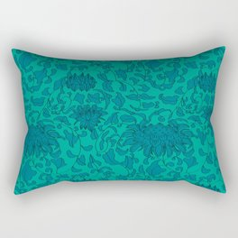 Chinoiserie Vines in Jade + Emerald Rectangular Pillow