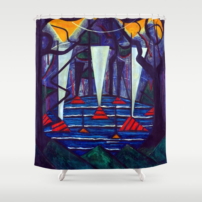 Jacoba van Heemskerck Composition 23 Shower Curtain