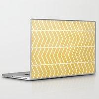 chevron Laptop & iPad Skins featuring Yellow Chevron by Zeke Tucker