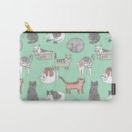 Cat pattern cute nursery cat lady kittens by andrea lauren Carry-All Pouch