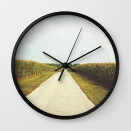 Indiana Corn Field Summers Wall Clock