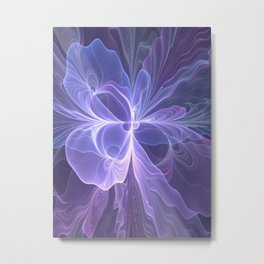 Abstract Art, Purple Fantasy Fractal Metal Print