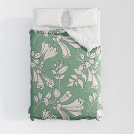 Flowers mint Comforters