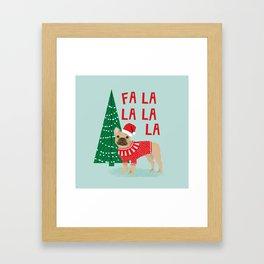 French Bulldog Christmas festive holiday sweater christmas card for dog lover french bulldog Framed Art Print