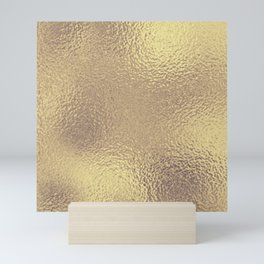 Simply Metallic in Antique Gold Mini Art Print