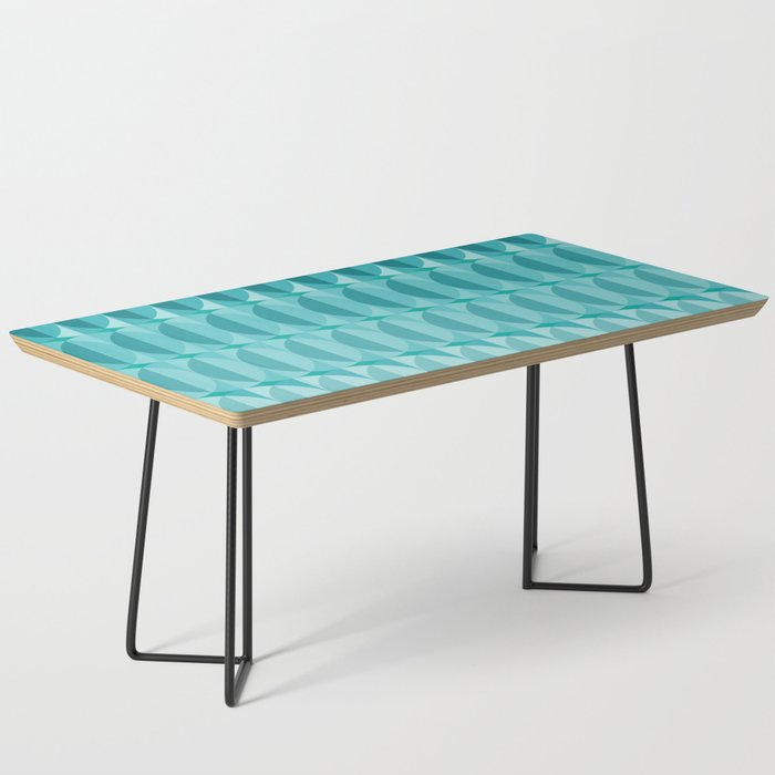 Leaves in the moonlight - a pattern in teal Coffee Table