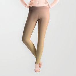 GRADUAL PATHS - Minimal Plain Soft Mood Color Blend Prints Leggings
