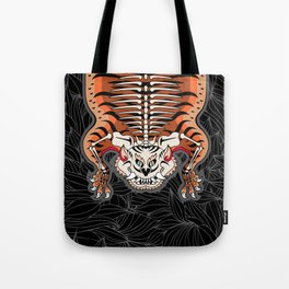 TIBETAN TIGER - SKELETON (black) Tote Bag