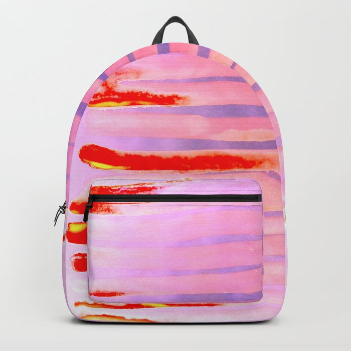 Pink Lava Lines Backpack