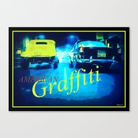 graffiti Canvas Prints featuring Graffiti by elkart51