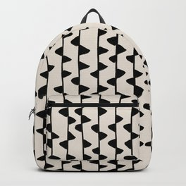Triangles / Black & White Pattern Backpack