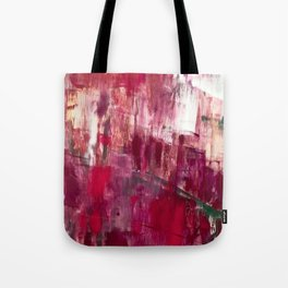 Sunset in the Valley [2]: a colorful abstract piece in reds, pink, gold, gray, and white Tote Bag