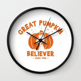Great pumpkin Believer snoopy and charlie brown Wall Clock