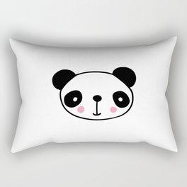 Cute panda head in black and white Rectangular Pillow