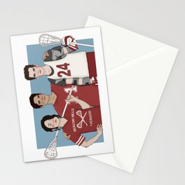 Scott McCall/Stiles Stilinski/Kira Yukimura Lacrosse Stationery Cards