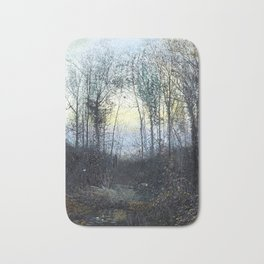 John Atkinson Grimshaw - Lovers in a Woodland Clearing - Victorian Retro Vintage Painting Bath Mat