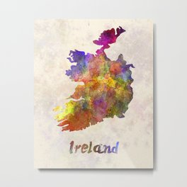 Ireland in watercolor Metal Print