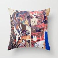 monkey Throw Pillows featuring monkey by echo3005