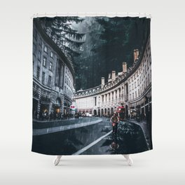Cycling at Regent Street by GEN Z Shower Curtain