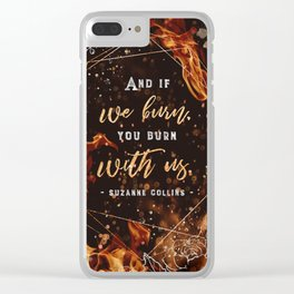 If we burn Clear iPhone Case