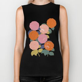 Flowers In Full Bloom Biker Tank