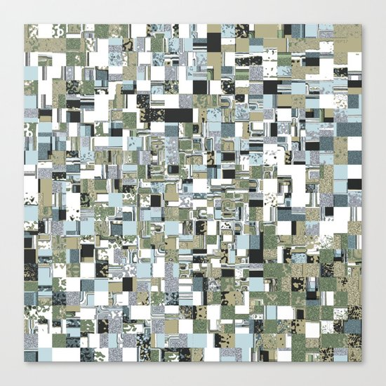 Geometric Grid of Textures Canvas Print
