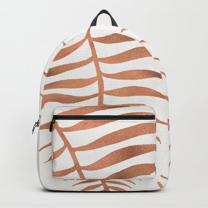 Palm Leaf – Rose Gold Backpack