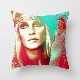 Sharon Tate Collage Portrait Throw Pillow