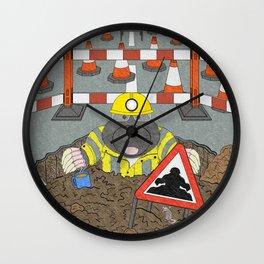 Roadwork Mole Wall Clock