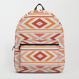 Boho Horizon - Coral and Orange Backpack
