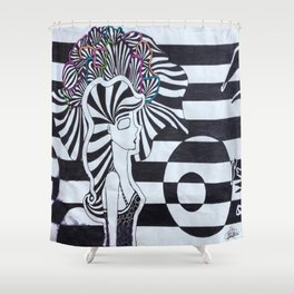 Colors of the Mind Shower Curtain