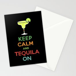 Keep Calm Tequila - black Stationery Cards