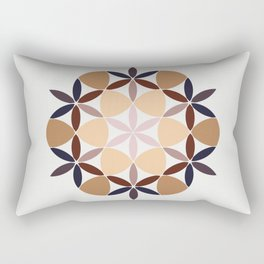 Flower of life - colored Rectangular Pillow