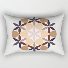 Flower of life - colored Rectangular Pillow