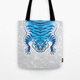 TIBETAN TIGER - BLUE (white) Tote Bag