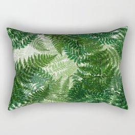 green big jungle leaves Rectangular Pillow