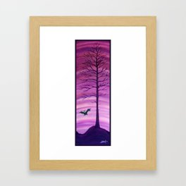 Happy Critter Tree no. 7 Framed Art Print
