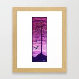 Happy Critter Tree no. 7 Framed Art Print