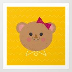 Dressy Bear Art Print