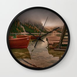 Lago di braies Wall Clock