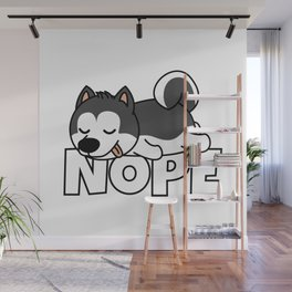 Nope Husky Wall Mural