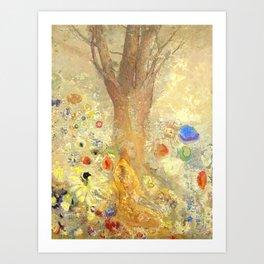 "Odilon Redon ""Buddha in His Youth"" Art Print"