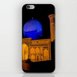 Timur Mausoleum at night iPhone Skin