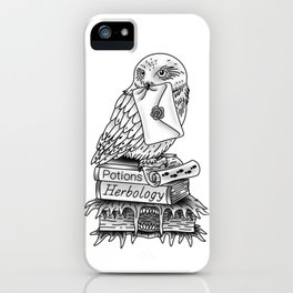 Hedwig On Books iPhone Case