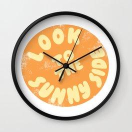 Look to the sunny side, retro sun Wall Clock